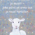 Postikortti lammas aiheella