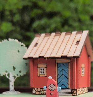 Tontun Sauna koottuna ja maalattuna