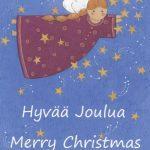 Joulukortti iloiset tähdet