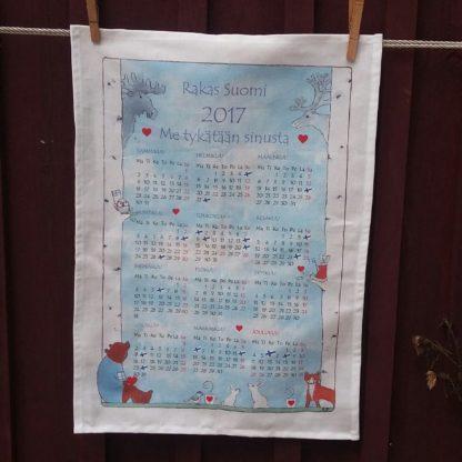 Kalenteripyyhe 2017