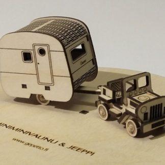 Minivaunu ja vetojeeppi