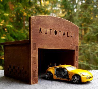 Autotalli pikkuautoille
