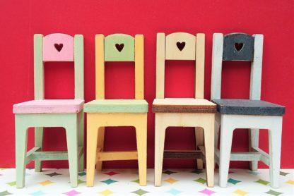 Chairs with heart decoration