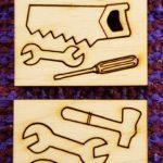 Työkalut nukkekodin puuhiin 7 mallia 1:12