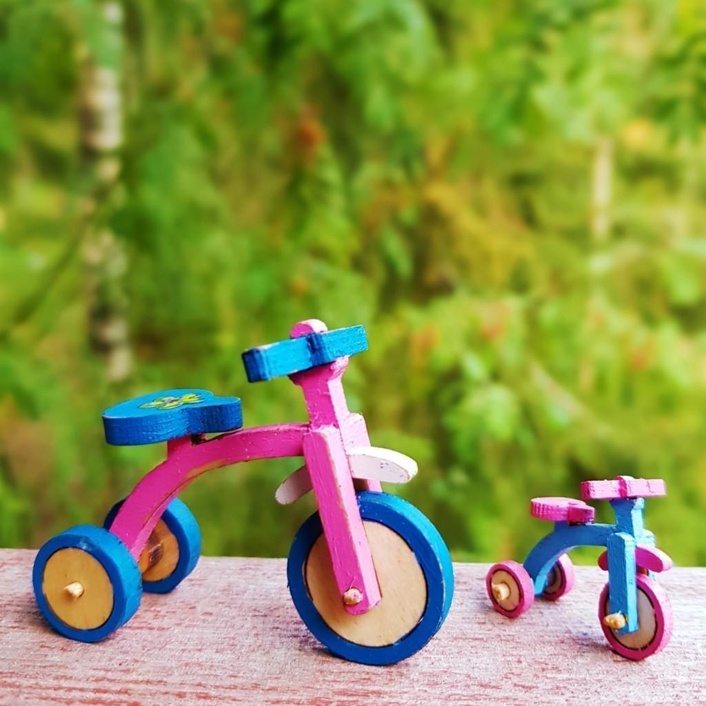 Trehjuling målad