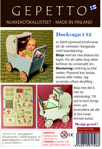 dockvagn kit av plywood