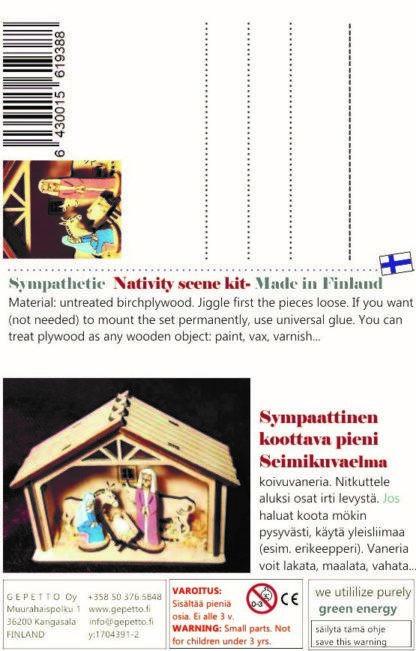Postkort Julgrubba